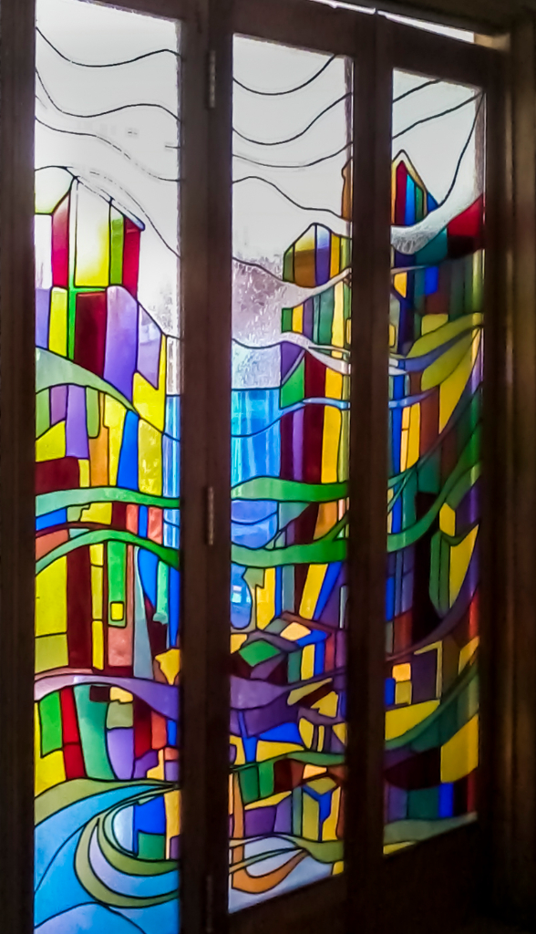 Vitrales arte vitral chile vitrales amal sabouni - Lamparas para salones modernos ...